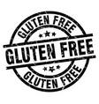 gluten free round grunge black stamp vector image