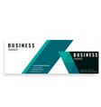 green design abstract business banner template vec vector image