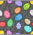 happy easter color seamless pattern easter vector image