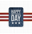 Happy Independence Day patriotic Label vector image vector image