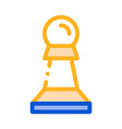 interactive kids game chess thin line icon vector image vector image