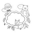 isolated boy cartoon in autumn season design vector image