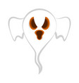 isolated cute halloween ghost vector image vector image