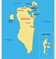 Kingdom of Bahrain - map vector image vector image