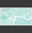 london great britain city map in retro style vector image