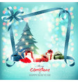 merry christmas and new year holiday background vector image vector image