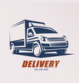 mini van symbol logo template delivery vector image