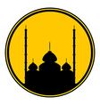 Mosque button vector image