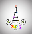 paris eiffel tower logo vector image vector image
