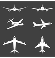 plane icons set vector image