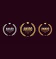 realistic detailed 3d laurel wreath award emblems vector image