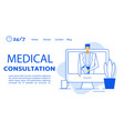 remote medical consultation treatment landing page vector image vector image
