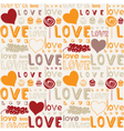 Retro Love Food Background vector image vector image