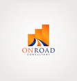 road business logo design symbol vector image