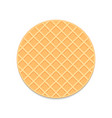 round waffle vector image vector image