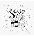 Save the date design element with calendar and vector image vector image