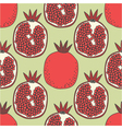 seamless fruit pattern of pomegranates vector image vector image