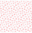 seamless pattern with icons baitems vector image