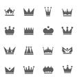 set crowns vector image