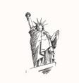 sketch statue liberty new york city usa vector image