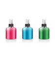 spray bottle colorful products collections vector image