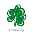 St Patricks greeting card vector image vector image