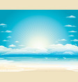 summer seascape vector image