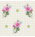 template with roses vector image vector image