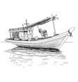 thai fishing boat vector image vector image