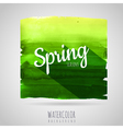Watercolor abstract background Seasons Spring vector image