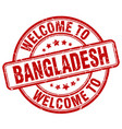 welcome to bangladesh red round vintage stamp vector image vector image