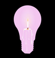 white candle light bulb vector image vector image