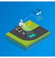 Augmented Reality Navigation Gadget Isometric vector image