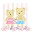 romantic bears vector image