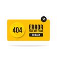 404 error page not found speech pop up errors vector image vector image