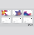 abstract colorful namecard template background vector image vector image