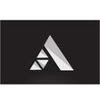 Alphabet letter A geometric logo icon design vector image