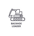 backhoe loader line icon sign vector image vector image