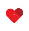 bandage tape heart love logo flat
