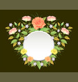 beautiful floral frame template decoration vector image vector image