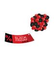 black friday sale tag promotion banner vector image