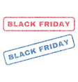 black friday textile stamps vector image vector image