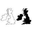 british isles map vector image