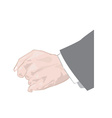 Cartoon hand vector image vector image