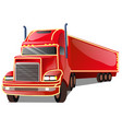 cartoon red truck isolated on white background vector image vector image