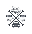 Carwash Black Vintage Stamp vector image vector image