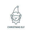 christmas elf line icon christmas elf vector image vector image