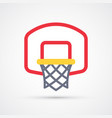 colored basketball basket icon vector image vector image