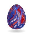colorful easter blue egg with ornate doodle floral vector image vector image