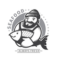 Commercial Fishing emblem vector image vector image